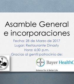Invitación Asamblea General e Incorporaciones Marzo 2017