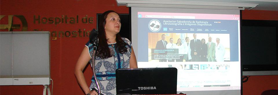 Presentación de página web de la Asociación de Radiología de El Salvador